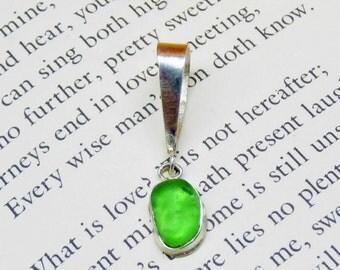 Lime Green Sea Glass Pendant