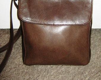 90's soft leather Brown shoulder bag