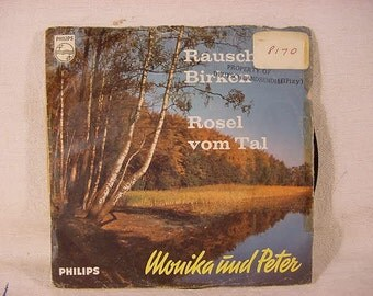 Vintage Old Collectible * Philips  45 rpm Record * In German * Rusel Vom Tal