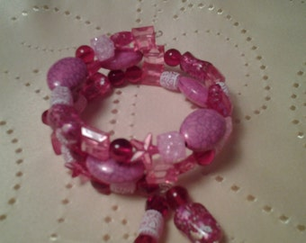 Valentine bracelet, memory wire wrap bracelet