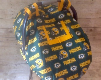 Green Bay Packers Car Seat Canopy/Foot Muff Set