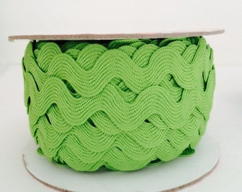 3/4 inch Ric Rac- Lime (5 Yard Bundle) Riley Blake Designs