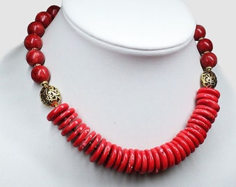 """Coral beads """"Bright Summer"""""""