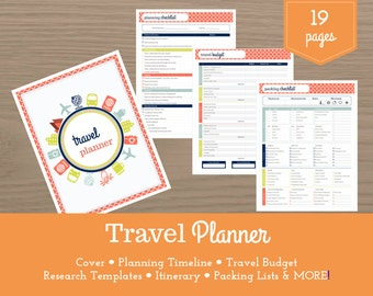 Travel Planner / Vacation Planner / Itinerary / Travel Budget / Packing Lists