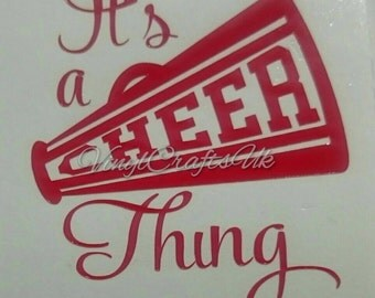 Cheer thing phone sticker