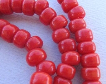Red Padre Beads (9x6mm) [61341]