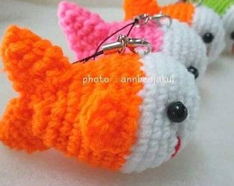Fish crochet keychain : fish,crochet,handmade,diy,keychain,doll,idea,design,yarn,cotton,polyester,wedding,gift