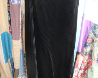 Long lined A line velevet skirt