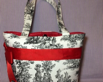 French Toile Purse