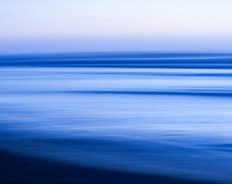 Panoramic art panoramic photo panoramic print abstract photography blue abstract art blue print seascape blue art large home decor wall art