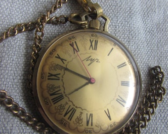 gold-platedPocket watches ЛУЧ LUCH  USSR