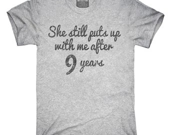 Funny 9th Anniversary T-Shirt, Hoodie, Tank Top, Gifts