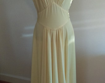 Vintage Yellow Maxi Dress/gown.
