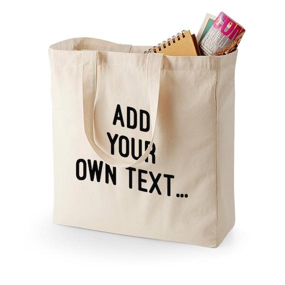 custom print make your own shopping shopper canvas bag black. Black Bedroom Furniture Sets. Home Design Ideas