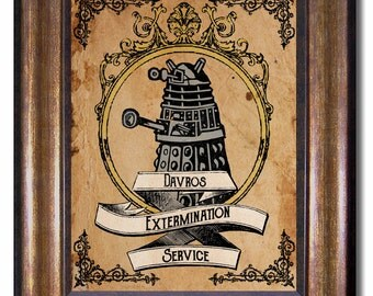 Doctor Who - Dalek Extermination Poster - Available in Multiple Sizes 5x7, 8x10, 11x14, 16x20, 18x24, 20x24, 24x36