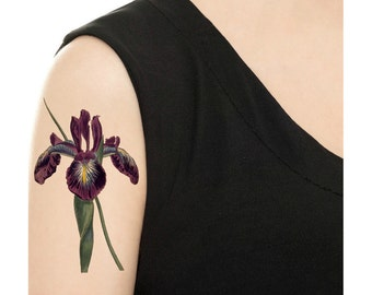 Temporary Tattoo - Vintage Flower - Various Patterns and Sizes