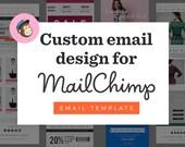 Custom Mailchimp Email Newsletter Design, Custom Email Newsletter Template, Email Newsletter Design Mailchimp