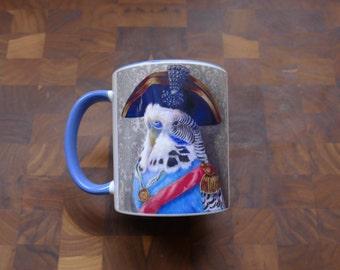 Napoleon Budgie - 11 oz. Mugs. Featuring original artwork.