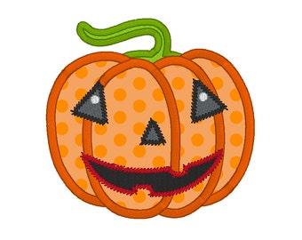 Halloween Pumpkin Applique Design, Halloween Pumpkin Machine Embroidery Design no: JGS00007-14