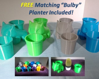 """Bulbasaur Planter Insert - FREE """"Bulby"""" Matching Planter"""" Included!"""