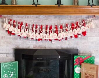 Advent Calendar Bags, Advent Calendar, Christmas Decorations, Christmas Decor, Advent Bags,Advent Numbers,Christmas Advent Calendar,Stocking