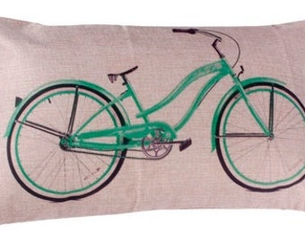 Beach Cruiser Bike Pillow Cover