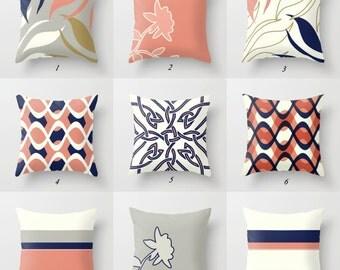 Pink Pillow Cover, Navy Blue Pillow, White, Gray Throw Pillows, Rectangular Pillow, Lumbar Pillows, Toss Pillows, Decorative Pillows Bedroom