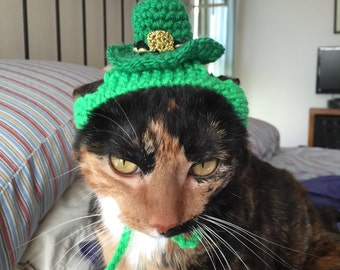 St Patrick,s Day hat fir cat
