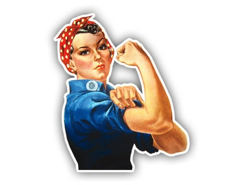 Rosie The Riveter WW2 Vinyl Decal Sticker