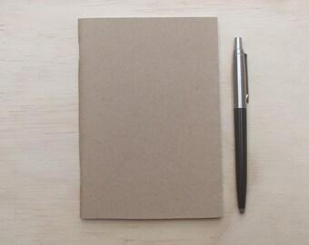 A6 blank kraft notebook 32 page