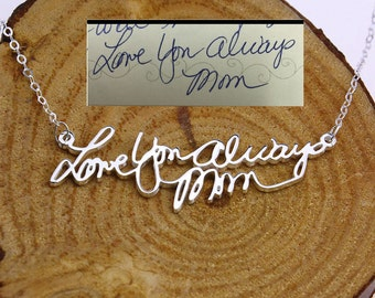 Personalized Handwritting Necklace,Memorial Signature Necklace,Custom Name Necklace,Bridesmaid Gift,Mother's Gift,Personalized Jewelry