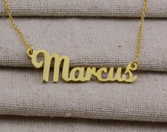 Gold Name Necklace,Personalized Jewelry,Nameplate Jewelry,Cute Name Necklace,Custom Name Necklace,Christmas Gift,Name Pendant