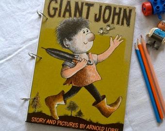 Giant John smash book, junk journal or diary planner, repurposed book, children's story book