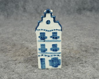 Simon Rynbende KLM Canal Houses 3 Made In Holland Liquor Bottle x2