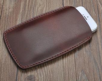 Handmade iphone 6 6s leather sleeve,iphone 6 plus iphone 6s plus leather sleeve,iphone 5s SE leather sleeve.iphone leather case