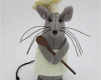 Chef Mouse Mouse Cake Topper Felt Mouse Felt Mice Mouse Ornament