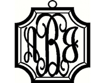 Custom Monogram Crest Script Monogram