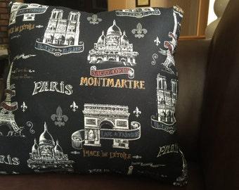 Paris decor pillow