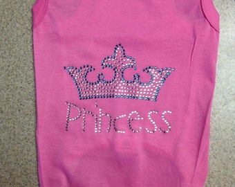 Princess puppy dog shirt; princess and crown without the 3.