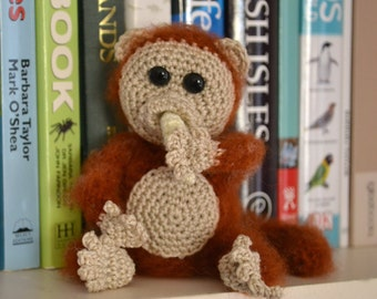 CROCHET PATTERN, Little Monkey, Home Decoration