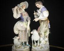RESERVED Meissen Figurine Porcelain Figurine Meissen Porcelain Doll Antique Doll German Doll Meissen Lace Figurine China Figurine German Por