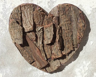 Bark heart, Wood Bark Heart Ornament, Tree bark heart, Woodland Wedding, Wood heart, Country wedding, Eco friendly gifts, Wooden bark heart