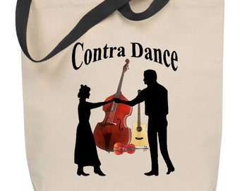 Contra Dance Tote Bag
