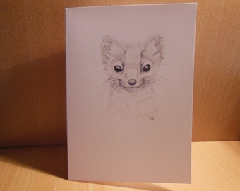 Pine Marten Greetings Card