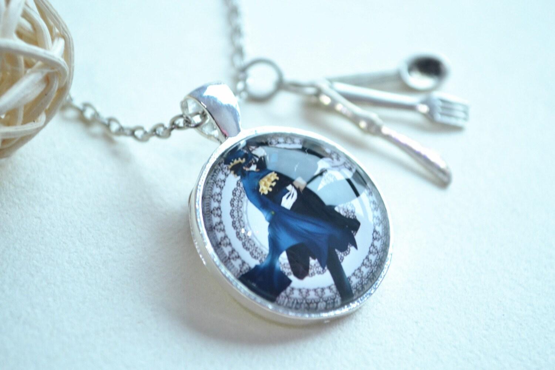anime black butler necklace sebastian seal and ciel by