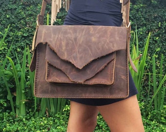 Leather Handbag /  Leather Messenger Bag  / Shoulder Bag