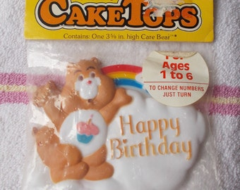 Vintage Wilton Birthday Care Bears Cake Topper 1982 New in Package