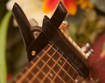 Ebony ~ Wooden Guitar Capo ~ Adjustable Tension ~ WoodenK ~ (Acoustic, Electric, Classical, Banjo & Ukulele) Christmas Gift