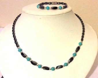 Triple Power Magnetic Necklace Bracelet set migraine help