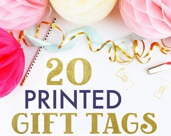 20 PRINTED FAVOR TAGS